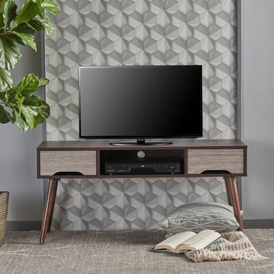Verdi Fiberboard 47.4 TV Stand Color: Wenge/Gray
