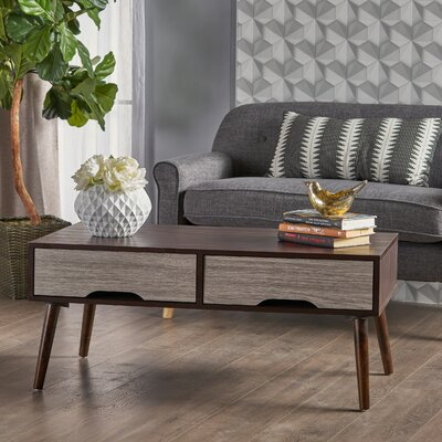 Veras Coffee Table Color: Wenge and Gray