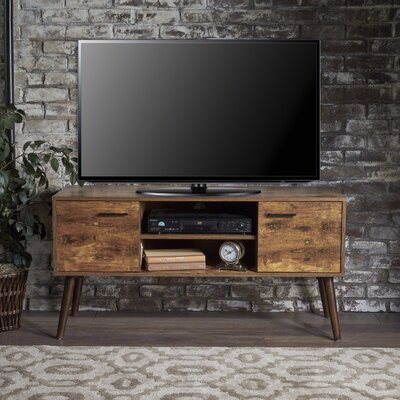 Vercher Fiberboard 47.5 TV Stand Color: Pine/Wenge