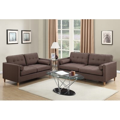 Venters 2 Piece Living Room Set Upholstery: Chocolate