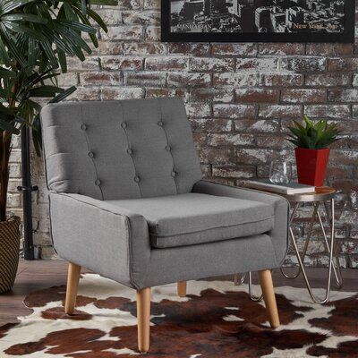 Vanleuven Fabric Side Chair Upholstery: Gray