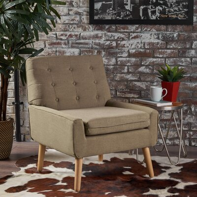Vanleuven Fabric Side Chair Upholstery: Taupe