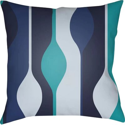 Wakefield Throw Pillow Size: 18 H x 18 W x 4 D, Color: Blue