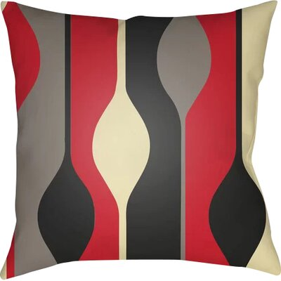 Wakefield Throw Pillow Size: 18 H x 18 W x 4 D, Color: Red