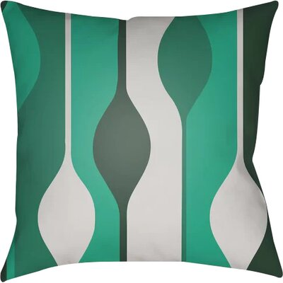 Wakefield Throw Pillow Size: 20 H x 20 W x 4 D, Color: Green