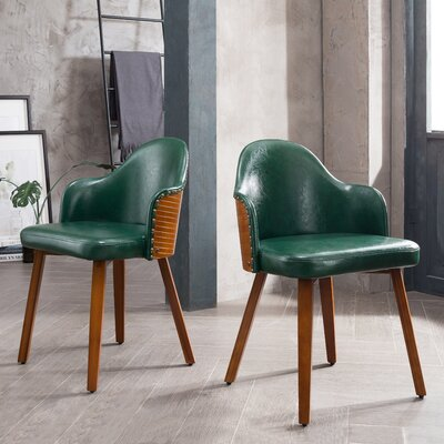 Bamboo Side Chair Upholstery: Green