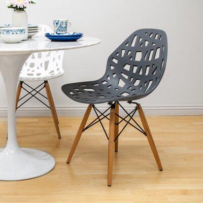 Josiah Stencil Cut Out Eiffel Dining Chair Color: Dark Gray