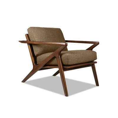Hinesburg Arm Chair Upholstery: Brown