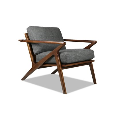 Hinesburg Arm Chair Upholstery: Charcoal
