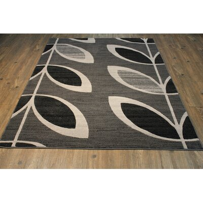 Wallin Gray/Black Area Rug