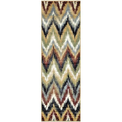 Velazco Zigzag Red Area Rug Rug Size: Runner 27 x 8
