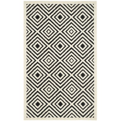 Woodford Cream/Anthracite Indoor/Outdoor Area Rug Rug Size: Rectangle 33 x 53