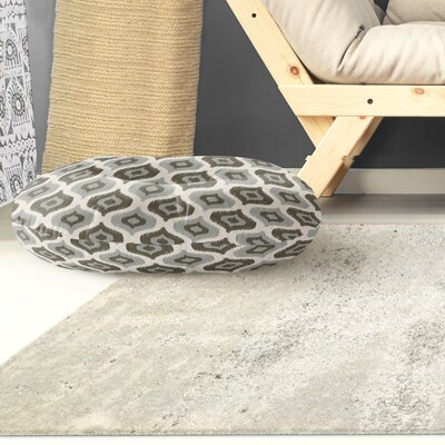 Underhill Round Floor Pillow Size: 23 H x 23 W x 9.5 D, Color: Grey/ Ivory