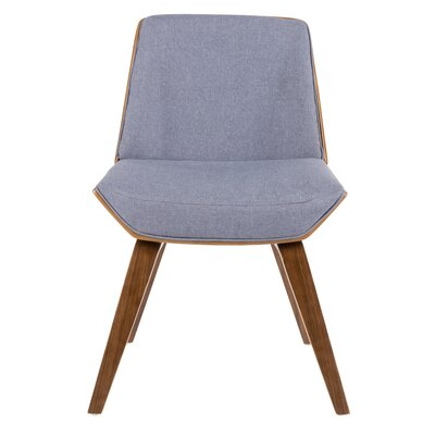 Bulgary Upholstered Dining Chair Color: Blue