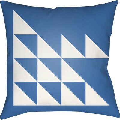 Wakefield Geometric Square Indoor Throw Pillow Size: 18 H x 18 W x 4 D, Color: Blue
