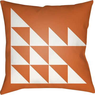 Wakefield Geometric Square Indoor Throw Pillow Size: 20 H x 20 W x 5 D, Color: Orange
