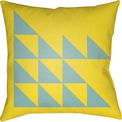 Wakefield Geometric Square Indoor Throw Pillow Size: 22 H �x 22 W x 5 D, Color: Yellow