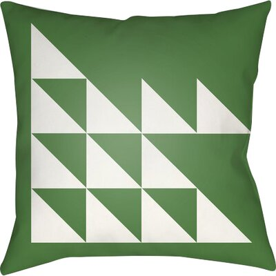 Wakefield Geometric Square Indoor Throw Pillow Size: 18 H x 18 W x 4 D, Color: Green