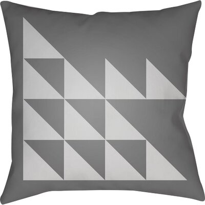 Wakefield Geometric Square Indoor Throw Pillow Size: 20 H x 20 W x 5 D, Color: Grey