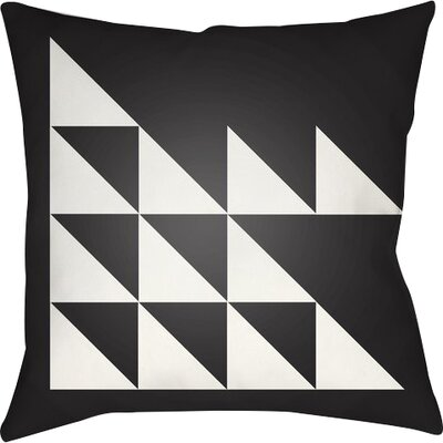 Wakefield Geometric Square Indoor Throw Pillow Size: 22 H �x 22 W x 5 D, Color: Black