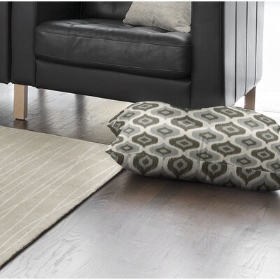 Underhill Square Floor Pillow Size: 23 H x 23 W x 9.5 D, Color: Grey/ Ivory