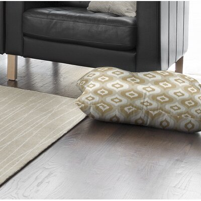 Underhill Square Floor Pillow Size: 26 H x 26 W x 12.5 D, Color: Tan/ Ivory/ Gold