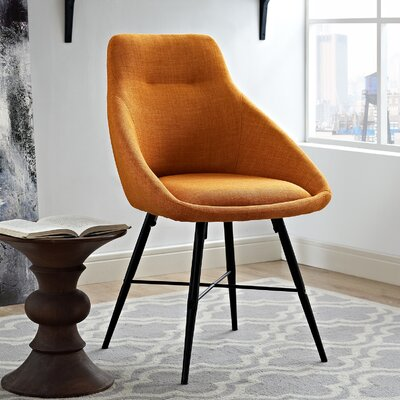 Vanwyk Urban Upholstered Side Chair Upholstery: Orange