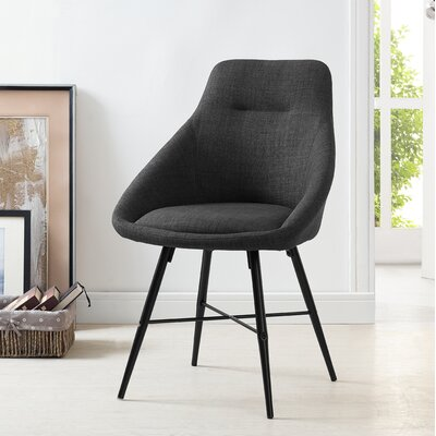 Vanwyk Urban Upholstered Side Chair Upholstery: Charcoal