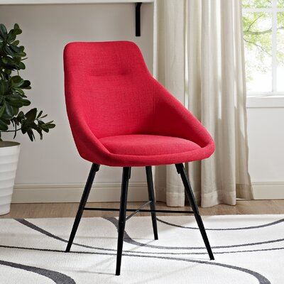 Vanwyk Urban Upholstered Side Chair (Set of 2) Upholstery: Red