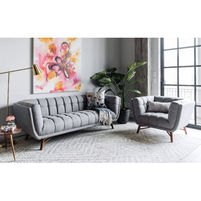 Wolken Mid-Century Modern 2 Piece Living Room Set