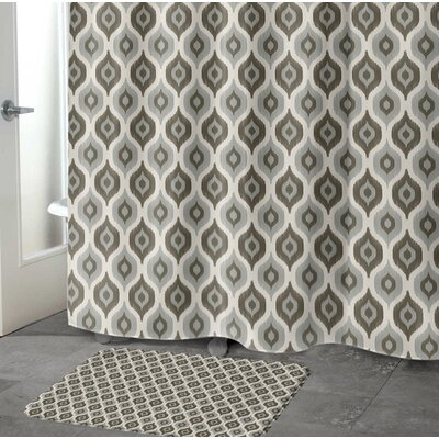 Underhill Rectangle Memory Foam Bath Rug Size: 24 W x 36 L, Color: Grey/ Ivory
