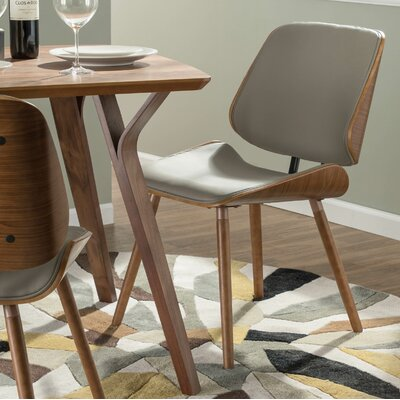 Whisenant Upholstered Dining Chair Upholstery: Gray