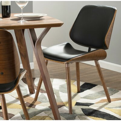 Whisenant Upholstered Dining Chair Upholstery: Black