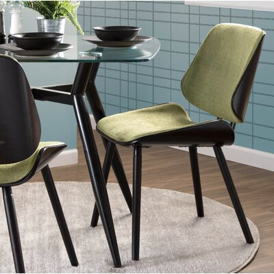 Whisenant Upholstered Dining Chair Upholstery: Green