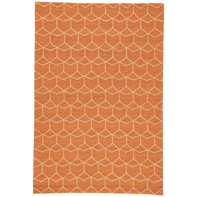 Wells Orange Indoor/Outdoor Area Rug Rug Size: Rectangle 2 x 3