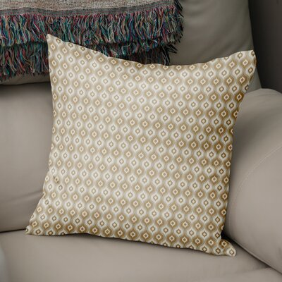Underhill Modern Rustic Throw Pillow Size: 16 H x 16 W x 5 D, Color: Tan/ Ivory/ Gold