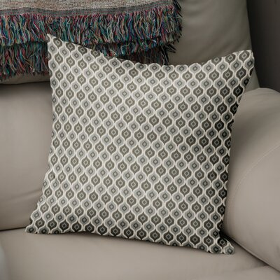 Underhill Modern Rustic Throw Pillow Size: 16 H x 16 W x 5 D, Color: Grey/ Ivory