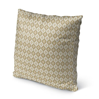 Underhill Burlap Indoor/Outdoor Throw Pillow Size: 16 H x 16 W x 5 D, Color: Tan/ Ivory/ Gold