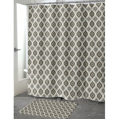 Underhill Cotton Blend Shower Curtain Color: Gray/ Ivory, Size: 72 H x 70 W