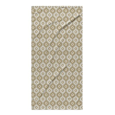 Underhill Beach Towel Color: Tan/ Ivory/ Gold