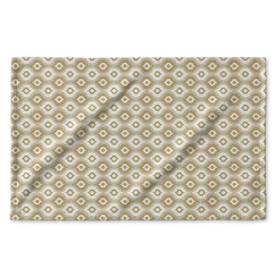 Underhill Geometric Hand Towel Color: Tan/ Ivory/ Gold