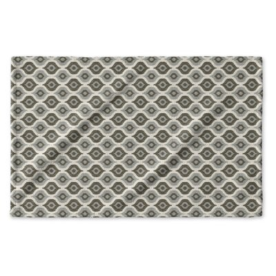 Underhill Geometric Hand Towel Color: Grey/ Ivory