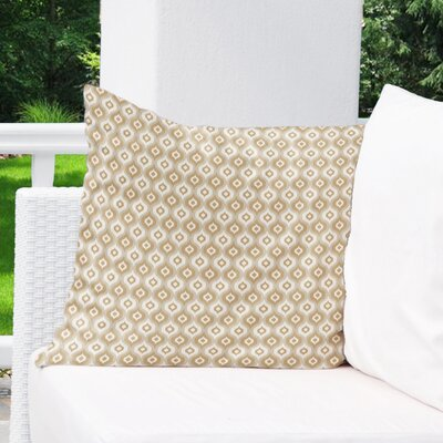Underhill Indoor/Outdoor Throw Pillow Size: 16 H x 16 W x 5 D, Color: Tan/ Ivory/ Gold