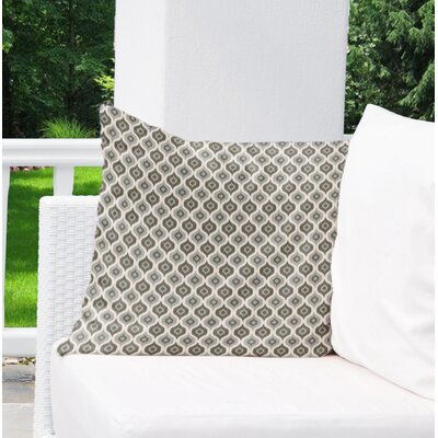 Underhill Indoor/Outdoor Throw Pillow Size: 16 H x 16 W x 5 D, Color: Grey/ Ivory