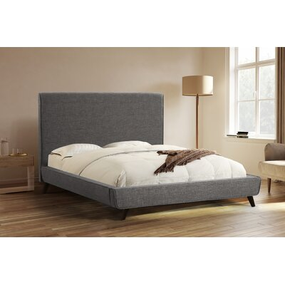 Newfane Upholstered Platform Bed Size: Queen, Color: Gray