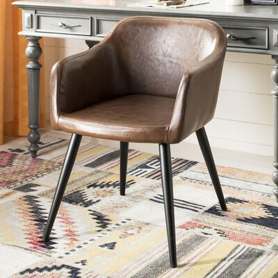 Zepeda Accent Armchair Upholstery: Brown