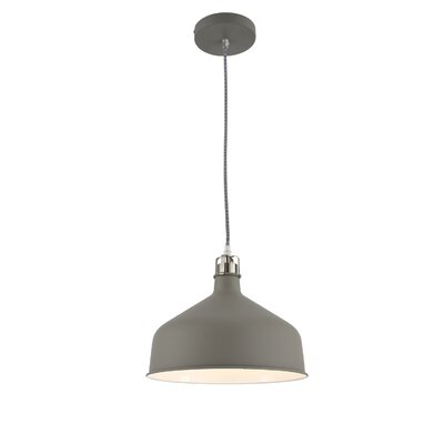 Wellow 1-Light Inverted Pendant Shade Color: Gray