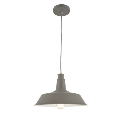Wellston 1-Light Inverted Pendant Shade Color: Dark Gray