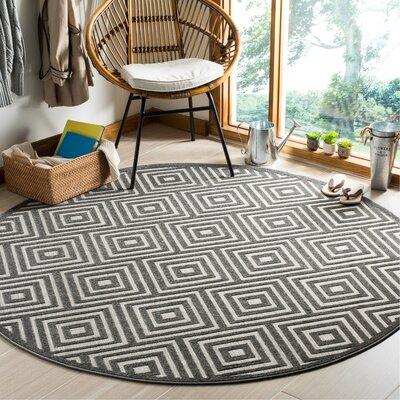 Candor Black Indoor/Outdoor Area Rug Rug Size: Round 67
