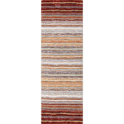 Weeden Hand-Tufted Red/Brown Area Rug Rug Size: Runner 26 x 8